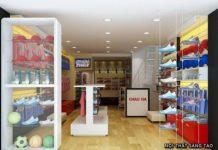 Thiết kế cửa hàng thể thao